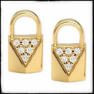 Beautiful and dainty Michael Kors Padlock Earrings